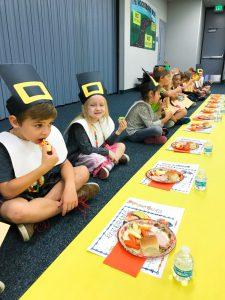 Woodsboro students feasting.