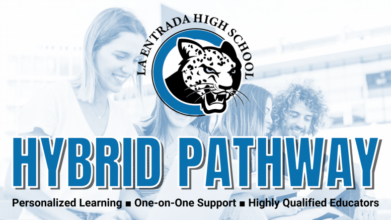 Individuals interested in learning more about the Hybrid Pathway in PYLUSD should call La Entrada High School at (714) 986-7026.